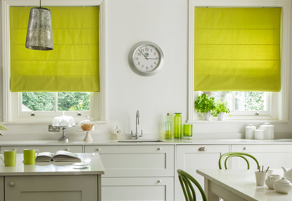 made to measure kitchen roman blinds