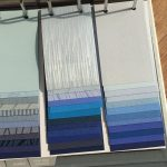 Sample swatches of colours and prints for blinds and curtains