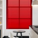 Red venetian blinds blog image