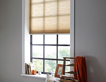 Cream roller blinds for small windows