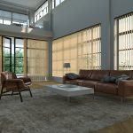 Vertical blinds in communal area