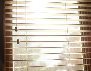 Venetian blinds - cropped with sunlight