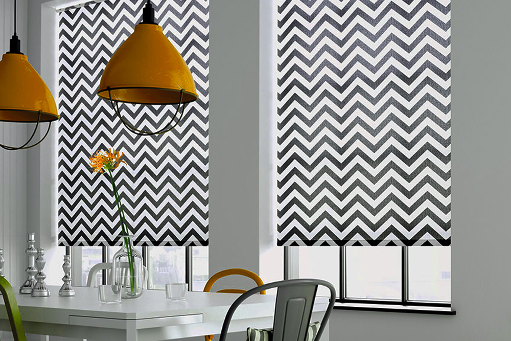 Printed Roller Blinds in kitchen area
