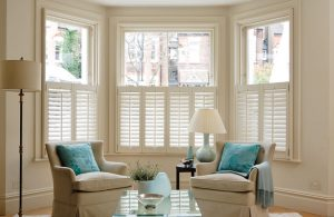 Cream shutter blinds image