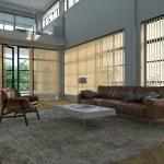 Vertical blinds in communal area