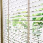Bespoke blinds white and green