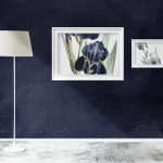Bespoke blinds: blue home interior